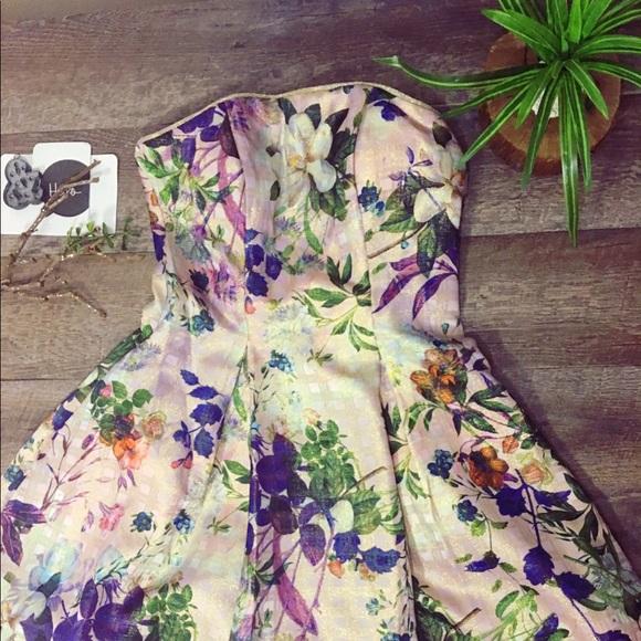 58120953f7a1 Nicole Miller Dresses | Floral Jacquard Dress | Poshmark